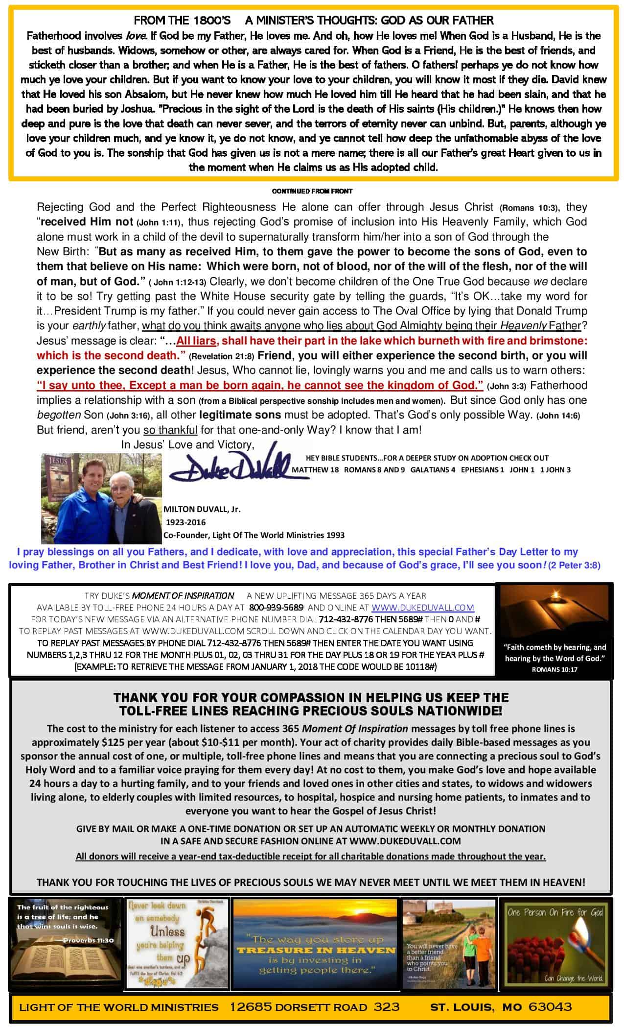 LOTW Fathers Day 2019 Newsletter - Page 2